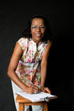 Старшая женщина афроамериканца стоковые изображения rf