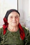 Старшая женщина в зеленом платье Стоковые Изображения RF