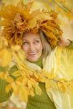 Старшая женщина в парке Стоковое Изображение