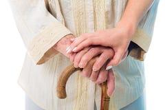 Старшая женщина в потребности стоковое изображение rf