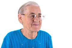 Старшая женщина в стеклах Стоковое Изображение