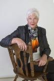 старшая женщина Стоковое Изображение