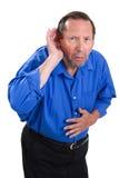Старшая потеря слуха стоковые изображения rf