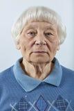 старшая серьезная женщина Стоковое Изображение