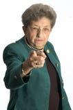 старшая серьезная женщина стоковые изображения