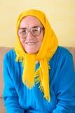 старшая сидя женщина Стоковые Изображения