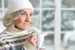 старшая сь женщина Стоковая Фотография