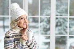 старшая сь женщина Стоковые Фото
