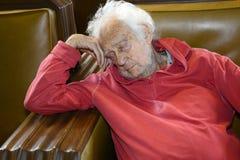 Старшее уснувшее стоковое изображение