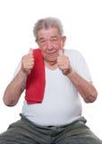 Старшие большие пальцы руки вверх Стоковая Фотография