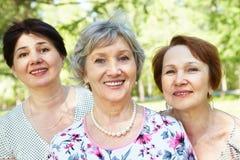 старшие женщины Стоковые Изображения