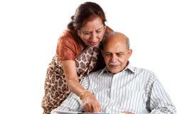 Старшие индийские пары Стоковые Фотографии RF