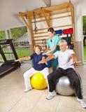 Старшие люди делая реабилитацию Стоковое Фото
