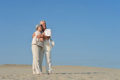 Старшие пары в влюбленности Стоковые Фотографии RF