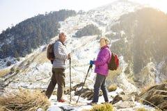 старшие пары на горе Стоковое Фото