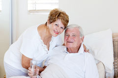 Старшие супруга и супруг Стоковая Фотография RF