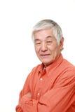 Старшие японские улыбки человека Стоковое Фото