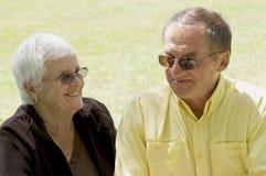 Старшии в золотистых летах Стоковые Фотографии RF