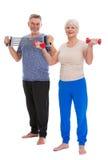 Старшии делая тренировки пригодности Стоковая Фотография RF