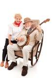 старшии музыки кантри стоковое фото