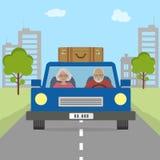 Старшии соединяют идти на праздник иллюстрация вектора