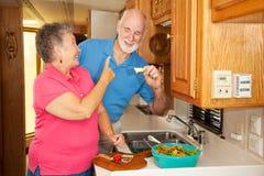 старшии rv hubby голодные Стоковое Изображение