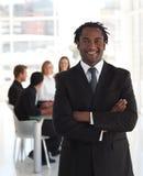 старший бизнеса лидер Стоковое фото RF