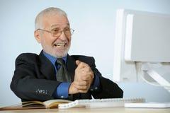 старший бизнесмена удачливейший Стоковая Фотография RF