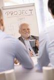 Старший бизнесмен на встрече команды Стоковое Изображение