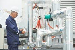 Старший взрослый работник инженера электрика Стоковое фото RF