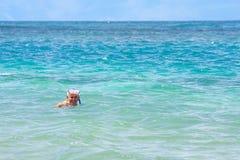 старший гражданина snorkeling Стоковая Фотография