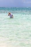 старший гражданина snorkeling Стоковое фото RF
