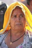 Старший индийский портрет женщины Стоковые Фотографии RF