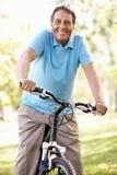Старший испанский bike riding человека Стоковая Фотография RF