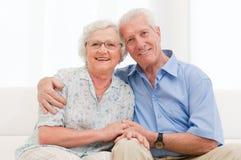 старший пар любя Стоковое фото RF
