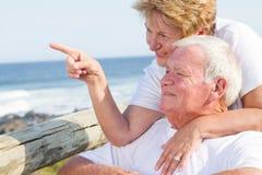 старший пар предполагаемый Стоковые Фотографии RF