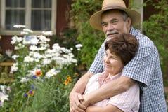 старший пар романтичный Стоковое Изображение RF