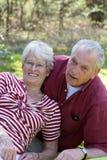 старший пар симпатичный Стоковая Фотография
