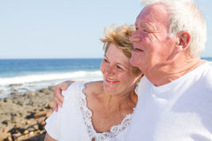 старший пар счастливый Стоковое фото RF