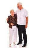 старший пар счастливый Стоковая Фотография