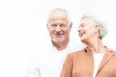 старший пар счастливый Стоковые Изображения