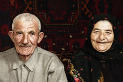 старший пар Стоковые Фото