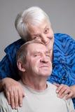 старший пар Стоковая Фотография