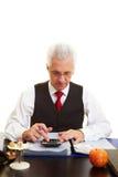 старший пенсии гражданина вычисления Стоковая Фотография RF
