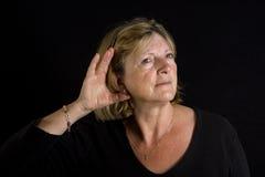 старший повелительницы слуха стоковое фото