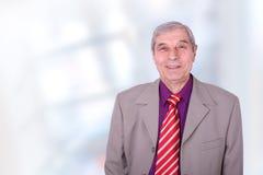 старший портрета крупного плана бизнесмена Стоковая Фотография