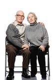 старший портрета пар счастливый Стоковые Фото