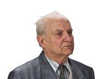 старший портрета человека стоковая фотография