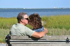 Старший поцелуй Стоковое Изображение