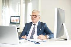 Старший профессиональный человек в офисе Стоковые Изображения
